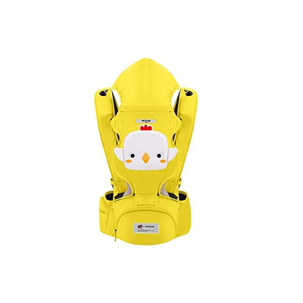 SONARIN 3 in 1 Multifunction Cartoon Hipseat Baby Carrier, Ergonomic,100% Cotton, One Size Fits All,Adapted to Your Child's Growing,Easy to Carry and Easy Mom,Ideal Gift(Yellow) SONARIN Applicable age and Weight:0-36 months of baby, the maximum load: 20KG, and adjustable the waist size can be up to 46.5 inches (about 118cm). Material:designers carefully selected soft and delicate 100% cotton fabric. Resistant to wash, do not fade, to the baby comfortable and safe experience. Cartoon version design, let the baby more like and adapt. Description:patented design of the auxiliary spine micro-C structure and leg opening design, natural M-type sitting. Side with small pockets so that you can put some daily necessities when you go outside. The baby carrier and the hipseat junction have a protective pad,intimate design, so that your baby more comfortable. 2