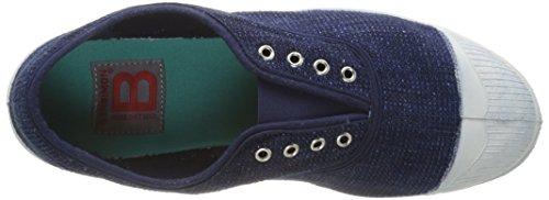Azul Damen Bensimon 532 Elly Bleu Bleu Sneaker Índigo Tweed SZSwE6qWTx