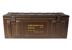 Munitionskiste UN0328 oliv gebraucht mit Schlo/ß 32,5 x 16 x 32 Metallkiste Werkzeugkiste
