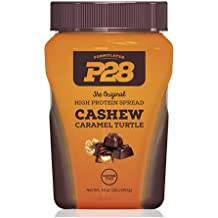 P28 Foods The Original High Protein Spread, Caramel Turtle, 16 Ounce by KEE HOLDINGS Inc.