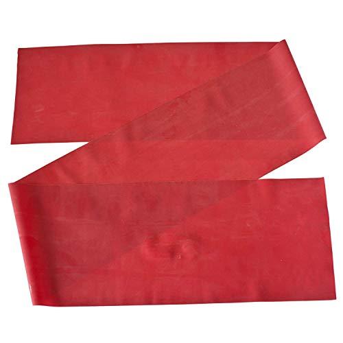 Theraband Gymnastikband für Fitnessübungen/Physiotherapie, Red (Medium), 2,5 m Stretch-lycra-ring