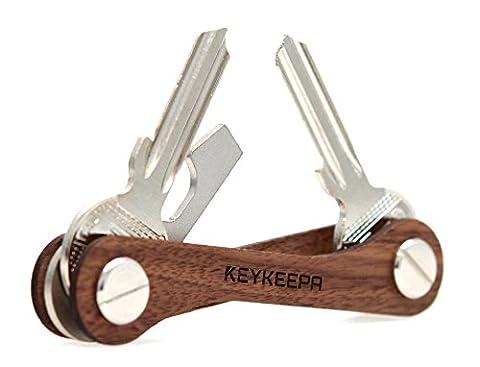 KEYKEEPA aus Holz - Der Schlüssel Organizer MADE IN GERMANY - für bis zu 16 Schlüssel, inklusive Flaschenöffner und Öse (Er 20 Werkzeughalter)