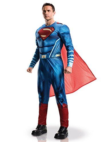 KULTFAKTOR GmbH DC Comics Superman Dawn of Justice Kostüm Lizenzware blau-rot XL (Comic Con Kostüme Einfach)