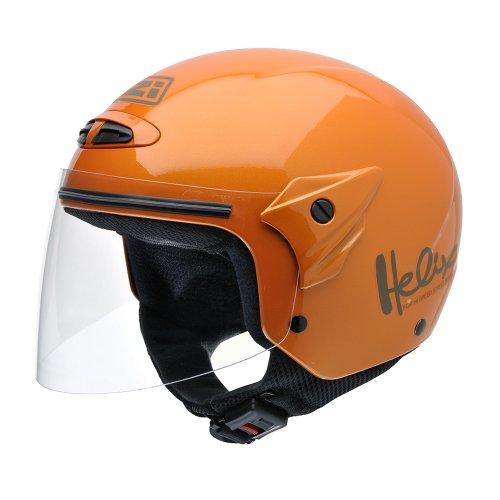 NZI 050215G193 Helix II Junior Motorcycle Helmet, Metal, Size L, Orange