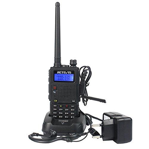 Retevis RT5 Double Bande Talkie Walkie Professionnel Haute Puissance Bi-Bande Rechargeable Longue Portée Professionnel 128 Canaux CTCSS/DCS Scan 1750Hz Surveillance VOX Radio FM(Noir)