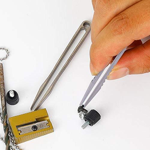 Dioche Pinzetten Kit, Tragbare EDC Titanlegierung Pinzette Outdoor Survival Camping Reise Mini Werkzeug
