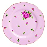 "Royal Albert NCRPNK25811 China Country Roses Vintage Formal Salad Plate, 8.1/3"", White/Pink"
