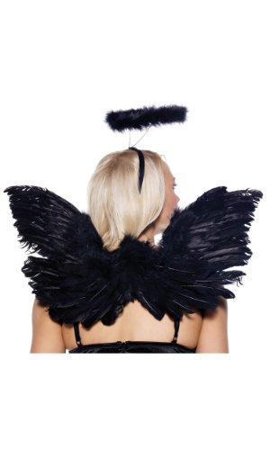 Leg Avenue 34139 Schwarz Deluxe Feather Engel Accessory Kit