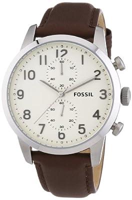 Fossil FS4872 - Reloj de pulsera hombre, piel, color marrón