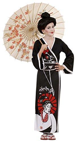 Kostüm Chinese Oriental (Widmann 57368 - Geisha Kimono Kind, Größe 158)