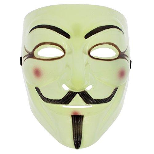 Smartfox Vendetta Maske - Gelb - Fasching Halloween -