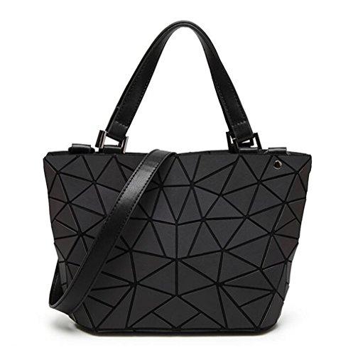 Yueling Frauen Geometrie Lattic Totes Bag gesteppte Kette Schultertasche Laser Plain Folding Handtaschen Bolso luminous small