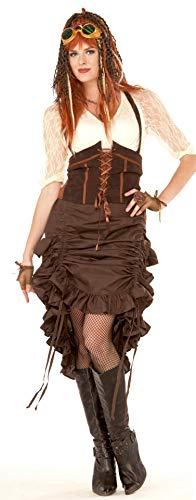Forum Novelties X76372 Steampunk Rock, womens, braun, UK Size 10-14 (Forum Womens Kostüm)