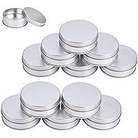 BENECREAT 12 Pack Lata de Hierro Caja metálica con Tapa Contenedor de Pequrñas Cosa Almacenamientos para