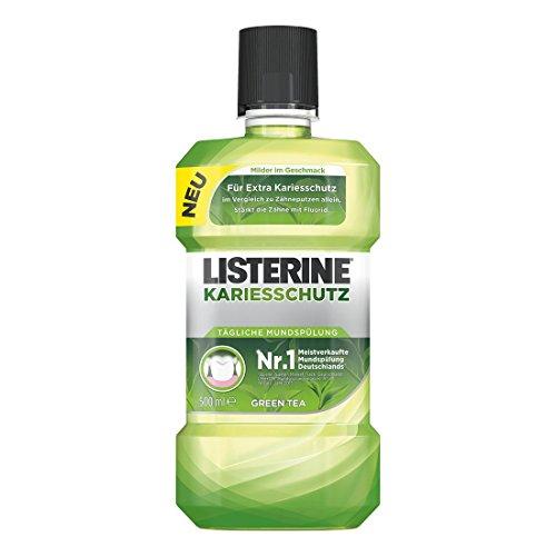 LISTERINE KARIESSCHUTZ Mundspülung – Antibakterielle Mundspülung gegen Karies mit milderem Geschmack – 3er Pack (3 x 500ml)