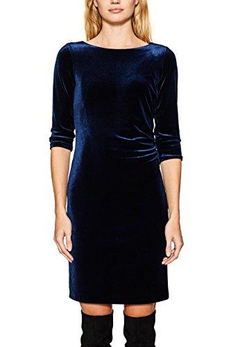 ESPRIT Damen Kleid 117EE1E031, Blau (Navy 400), Medium