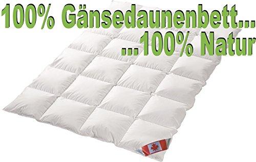 Übergangsbettdecke Bettdecke Polaris Premium Light Daunendecke 100% Natur Gänsedaune Canada Wärmegrad 2 (155x220 cm)