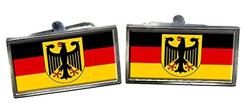 Bundesrepublik Deutschland / Deutsche Flagge Männer-Manschettenknöpfe mit Chrom-Geschenkbox