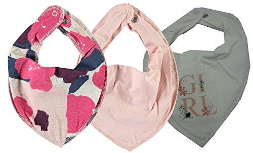 NAME IT NAME IT Sommer 3er Set zur Auswahl? Baby Halstuch Dreieckstuch Halstücher 3 Stück ? Baumwolle/Fleece (Blumen pink, pfirsich, Girl snow white)