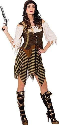 Fancy Me Damen Karibischer Pirat See Dirndel Tv Buch Film Halloween Party Spaß Kostüm Kleid Outfit - Multi, UK - Feurige Kostüm