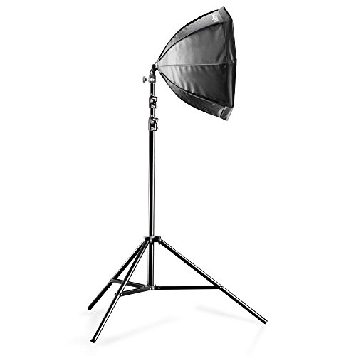 Walimex Daylight Set 250 Studioset (250 Watt Daylight, Octagon Softbox 55 cm und Lampenstativ)