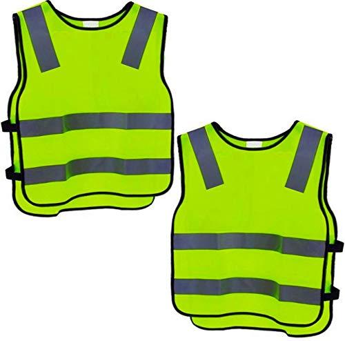 2-Warnweste-Kinder-Sicherheitsweste-Gelb-Stark-Sichtbar-Atmungsaktiv-Universal-Gre-Schutz-Weste-fr-JungsMdchen