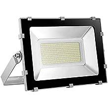 Yuanline Focos LED Exterior de Blanco Frío 200W 20000LM, 6000-6600k, Ultrafino y
