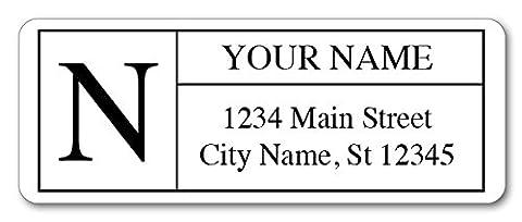Guajolote Prints Personalized Return Address Labels - Monogram Design - 120 Custom Gift Stickers