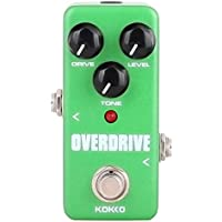 AKDSteel KOK-KO FOD3 Mini Overdrive Electric Guitar Effect Pedal Portable True Bypass Aluminio Body Tube Overload Guitar Stompbox