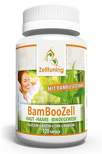 Zelltuning BAMBOOZELL, Organisches Silizium Silicium aus Bambus Extrakt mit Biotin, Zink, Mangan. Das GUTE für Haut, Haare, Nägel und Bindegewebe. (120)