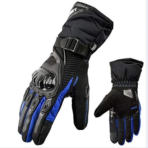 Berrd Guanti moto Impermeabili e antivento Proteggi schermo touch screen caldo invernale suomy blu M