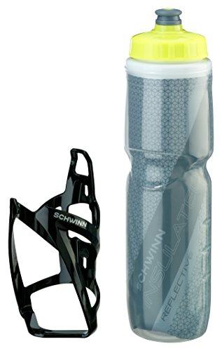 Schwinn Reflektierende isoliert Wasser Flasche mit Käfig, 26oz (Wasser Schwinn Flasche)