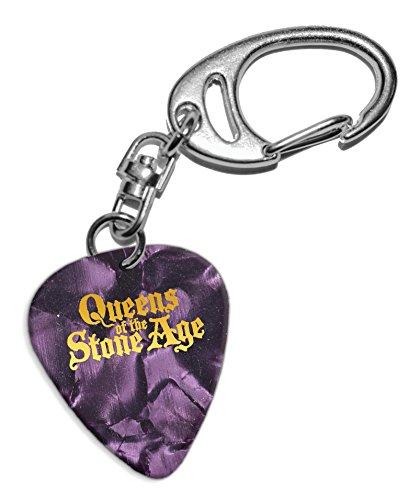Queens Of The Stone Age Púa de Guitarra Llavero Keyring Purple Pearl ( GHF )
