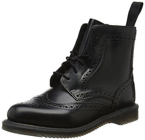 Dr. Martens Delphine Black Polished Smooth, Stivali Donna, Nero, 39 EU