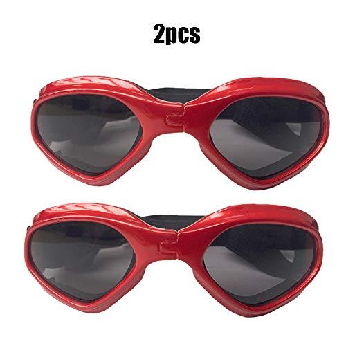 430 Coupe (YOCC Lunettes de Soleil Dog Goggles, Lunettes de Protection UV Corgi Pliable Eye Eye Porter des lunettes ajustables Coupe-Vent, Pour Chien Moyen, Rouge)
