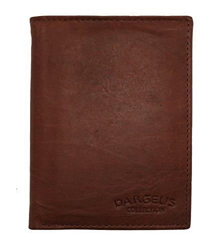 Herren Portemonnaie aus weichem echtem Leder im Hochformat robuste Geldbörse Ledergeldbörse Geldbeutel Braun 5600 (Braun) -