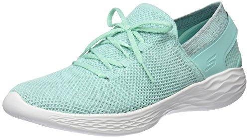 Skechers You-Spirit, Zapatillas Sin Cordones Para Mujer, Azul (Mint), 35.5 EU