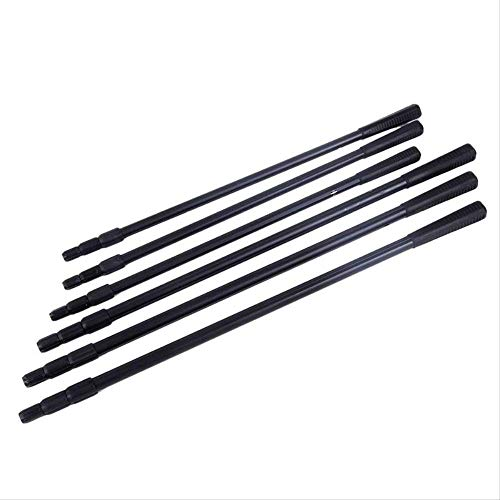 DIELUO Angelruten 2,1 m Kopf Ring Prong Harpoon Spear Rod Fisch Dip Net Edelstahl Teleskoppflanzen Sichelstange Pole -