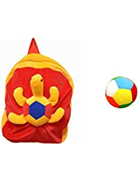 Jrp Mart Red Trotoise Soft Toy Bag With Little Ball - B072MFPVNY