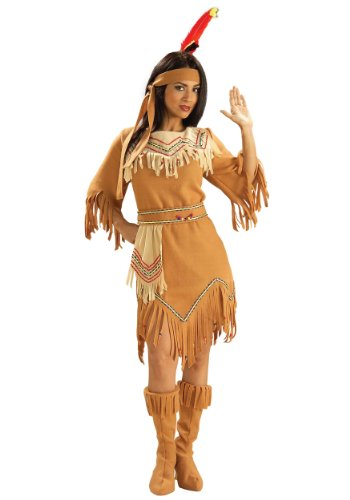 Forum Novelties Inc. Damen-Kostüm Maiden Native American Gr. XS, Beige - (Pocahontas Halloween Kostüme Adult)