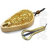 Oberton Pro -=Yungur=- Maultrommel mit Schutzhülle aus Zedernholz. Am besten für den Preis Anfänger/Spielzeug / Geschenkset!