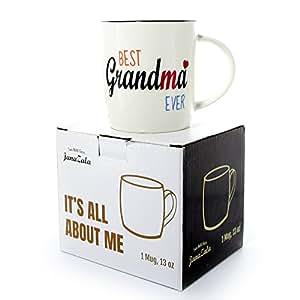 Janazala tasse caf grand m re mug pour mamie cadeau de no l pour grand m re f te des m res - Cadeau anniversaire grand mere ...