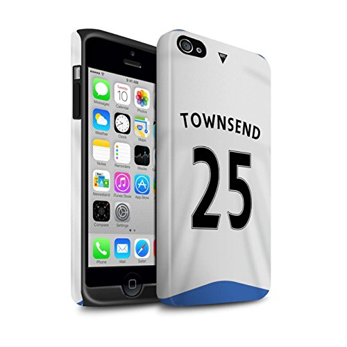 Offiziell Newcastle United FC Hülle / Matte Harten Stoßfest Case für Apple iPhone 4/4S / Pack 29pcs Muster / NUFC Trikot Home 15/16 Kollektion Townsend
