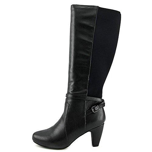 Easy Spirit Patrina Wide Calf Damen Rund Leder Mode-Knie hoch Stiefel Black