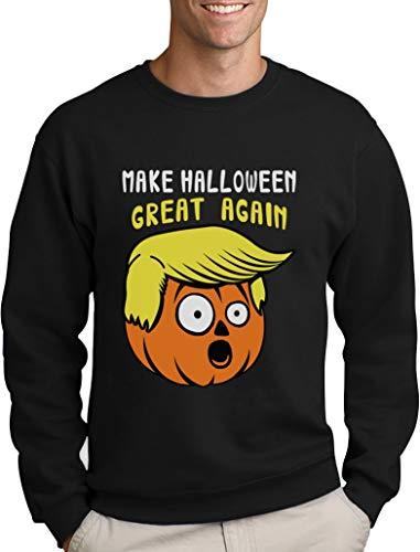 Witziges Geschenk Pullover Halloween Great Again Sweatshirt XX-Large Schwarz