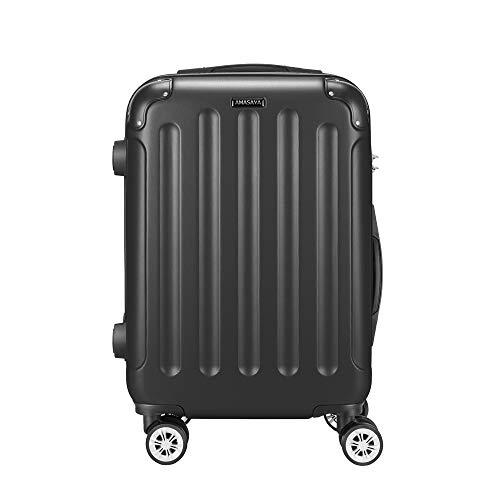 AMASAVA Reisekoffer Koffer Trolley Hartschalenkoffer Handgepäck mit TSA Zahlenschloss 20