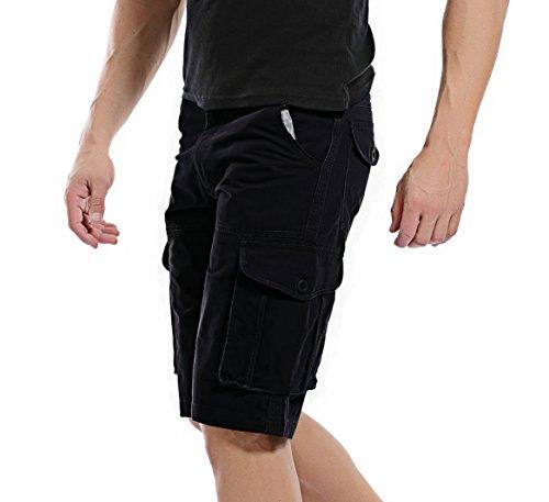AYG Bermudas Cargo Shorts Hombres Pantalones Cortos(black,29)