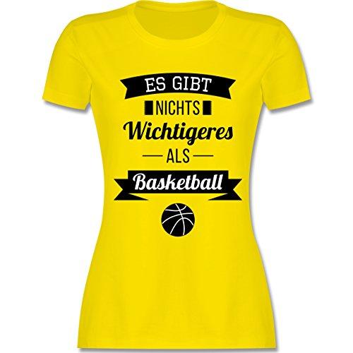 Shirtracer Basketball - ES Gibt Nichts Wichtigeres Als Basketball - Damen T-Shirt Rundhals Lemon Gelb