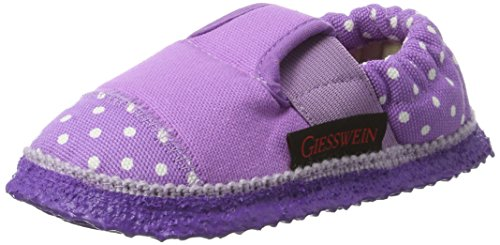 Giesswein Amsdorf, Chaussons courts, non doublées fille Rose (306 / Fuchsia)