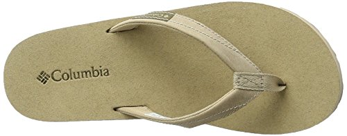 Columbia Sorrento Leather Flip Wmns, Ciabatte Infradito Donna Beige (Oxford Tan, Sunset Red 212)